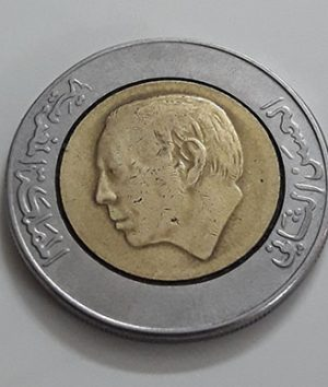 Two-metal foreign coin, beautiful design of Maghreb, 1987-kzz