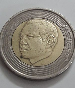 Two-metal foreign coin, beautiful design of the Maghreb country, 2002-lzz