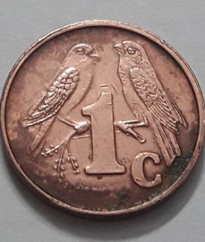 Foreign coin of beautiful and rare design of South Africa, unit 1, 2001-gbb
