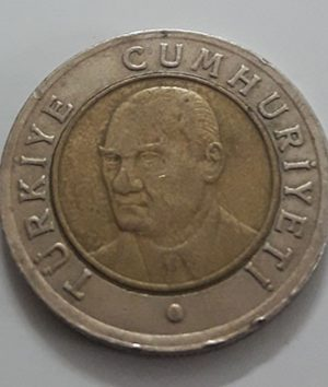 Foreign bimetallic coin of Turkey in 2006-crr