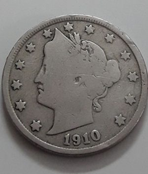 Foreign currency 5 cents in 1910-css