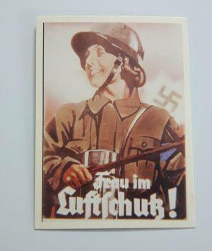 Beautifully designed Nazi German memorial postcard