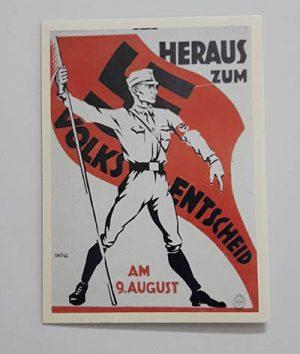 Nazi Germany Commemorative Postcard jhhty