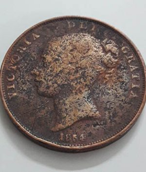 Queen Victoria 1854 Collectible Coin Large Size (not to be confused with a penny coin) q2e