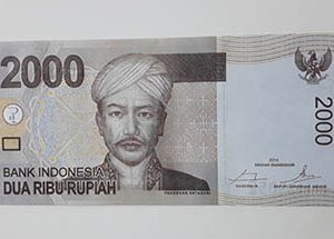 Indonesia Foreign Banknote Unit 2000 ttt ds