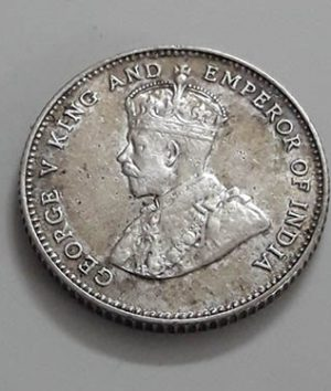Silver coin 10 cents of the settlers of the Strait of Malayshah George V in 1927 gg