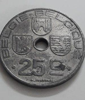 Collectible coins of Belgium 1943, unit 25 mjj