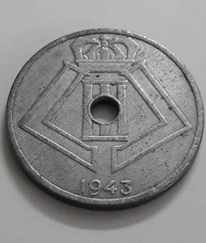 Collectible coins of Belgium 1943, unit 25 mjuu