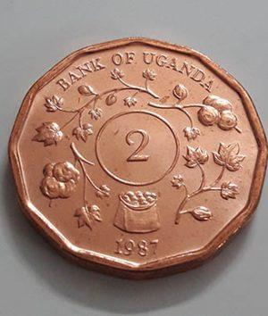 A very rare and valuable collectible coin of Uganda Rare Type 2 de4 tr