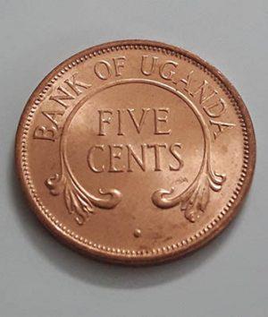 A very rare and valuable collectible coin of Uganda Rare Type 5 Bank Quality Unitaaa tr