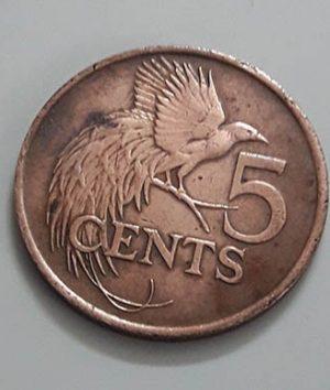 Very rare collector coins Trinidad and Tobago beautiful design e5444 hg