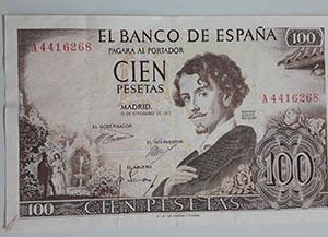 Foreign collectible banknote, very beautiful design, Spain, 1965 njjj