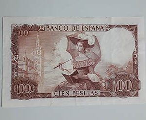Foreign collectible banknote, very beautiful design, Spain, 1965 nhhh