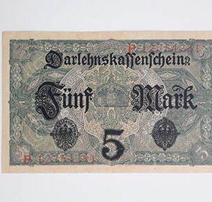 Austrian collectible banknote, very beautiful design, 1917, Austria ggg