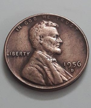 Coin of a traditional American Lincoln collection 1956D mjj re