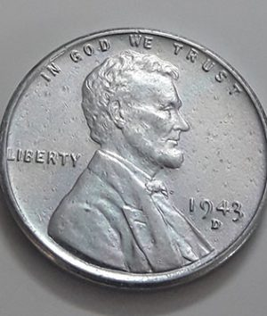 A foreign coin of a traditional Lincoln country of 1943 D-aws