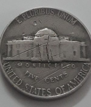 US 5 cents foreign coin 1963-dsa