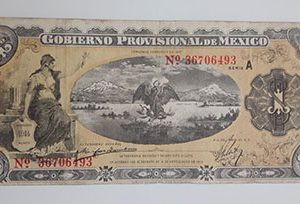 Collectible foreign banknotes and plaques of Mexico in 1914, very beautiful design-oiu