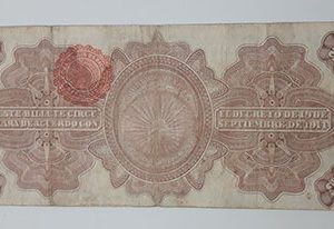 Collectible foreign banknotes and plaques of Mexico in 1914, very beautiful design-uio