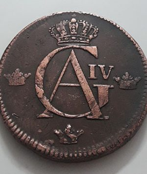 Collectible foreign error coin, extremely rare and valuable, Sweden, 1802, large size-xax