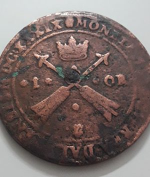 Foreign coin of a magnificent and large museum in Sweden, 1 urea in 1638-aii