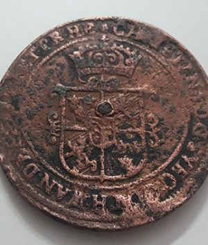 Foreign coin of a magnificent and large museum in Sweden, 1 urea in 1638-iai