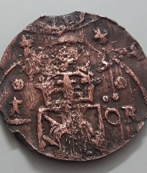 Rare collection museum museum coin of Sweden 1/4 urea 1634 Old dating-pbp