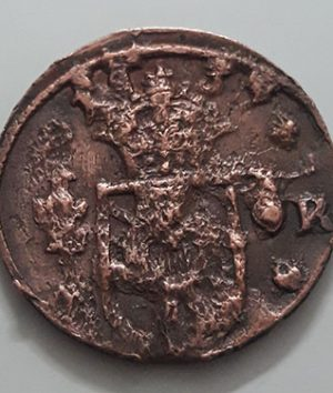 Rare collection museum museum coin of Sweden 1/4 urea 1634 Old dating-sbs