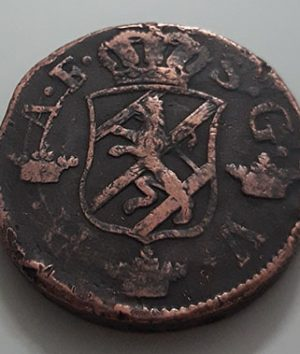 Magnificent Swedish collectible foreign coin, large size, 1765-kbk