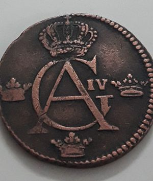 Swedish 1 urea collectible foreign coin of 1805 with excellent quality-qdq