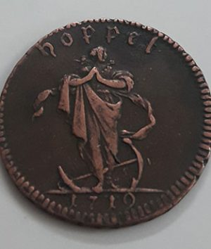 Swedish museum collectible foreign coin with a beautiful and eye-catching design from 1719-ebb