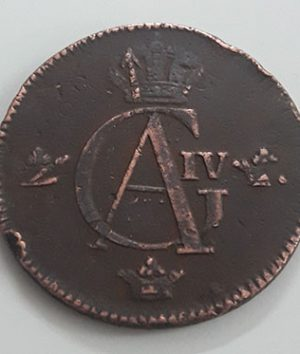 A very beautiful and rare foreign collectible coin 1/2 skilling of Sweden in 1802-xfx