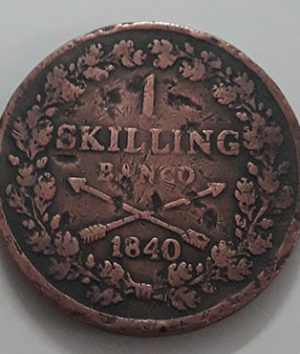Extremely Rare and Valuable Foreign Collection Coin of Sweden 1 Skilling Van Co 1840-jkl