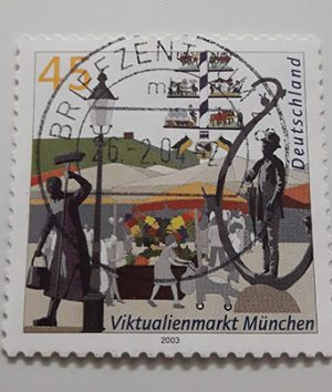 Foreign stamp with a very beautiful design of 2003-cde
