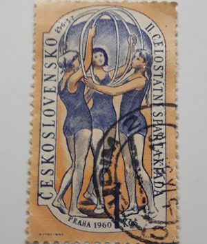 Foreign stamp of beautiful design of 1960-avv