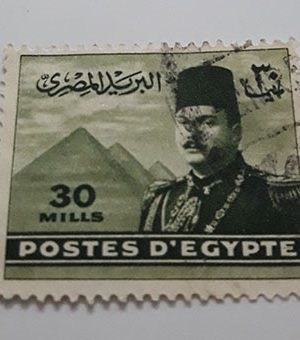 A very beautiful foreign collection stamp of Egypt Picture of Fouad I (dated)-cww