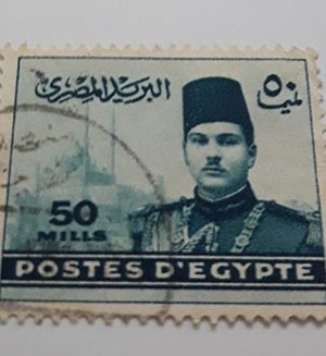 A very rare foreign stamp of Egypt Picture of Fouad I-cyy
