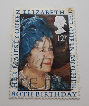 Collectible British foreign stamp Picture of Queen Elizabeth-dqq