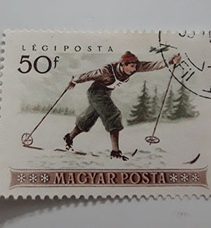 Collectible foreign stamps of beautiful Hungarian design-dll