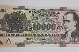 A very rare foreign banknote in Paraguay, 2004-eww