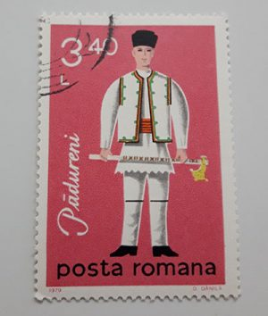 Collectible foreign stamp of Romania-ett