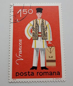 Collectible foreign stamp of Romania-eyy
