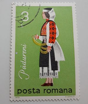 Collectible foreign stamp of Romania-eii