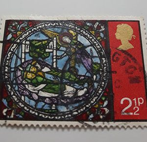 Collectible foreign stamps with a special British design-ejj