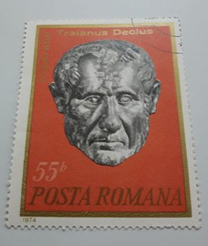 Collectible foreign stamp of Romania in 1974-ekk