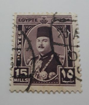 Collectible foreign stamp of Egypt Picture of Fouad I-ezz