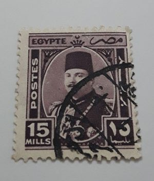 Collectible foreign stamp of Egypt Picture of Fouad I-exx