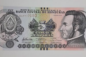 A rare collectible foreign banknote from Honduras in 2012-fww