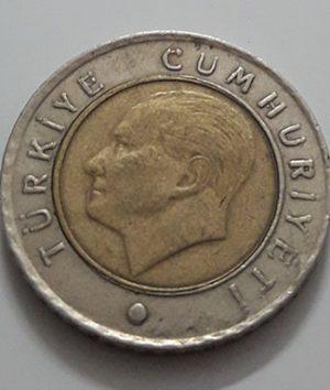 Foreign bimetallic coin of Turkey in 2010-fee