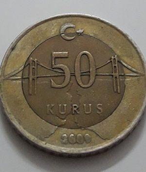 Foreign bimetallic coin of Turkey in 2010-efe